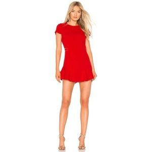 Amanda Uprichard Mckenna Dress Mcintosh Red XS